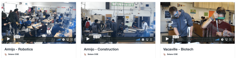 preview of Solano career technical education video series